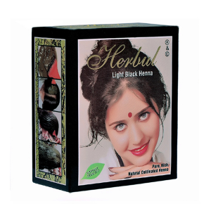 хна для волос СВЕТЛО-ЧЁРНАЯ марки Herbul 6 пакетов по 10 грамм