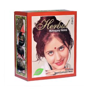 хна для волос МАХАГОНИ марки Herbul 6 пакетов по 10 грамм