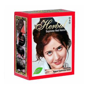 хна для волос СУПРИМ РЕД марки Herbul 6 пакетов по 10 грамм