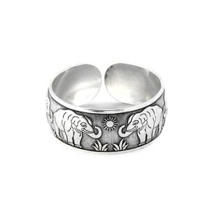 металлический браслет Слоны