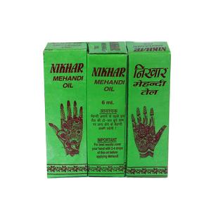 масло для мехенди марки Nikhar 3 флакона по 4 мл