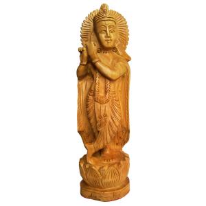 деревянная статуэтка КРИШНА